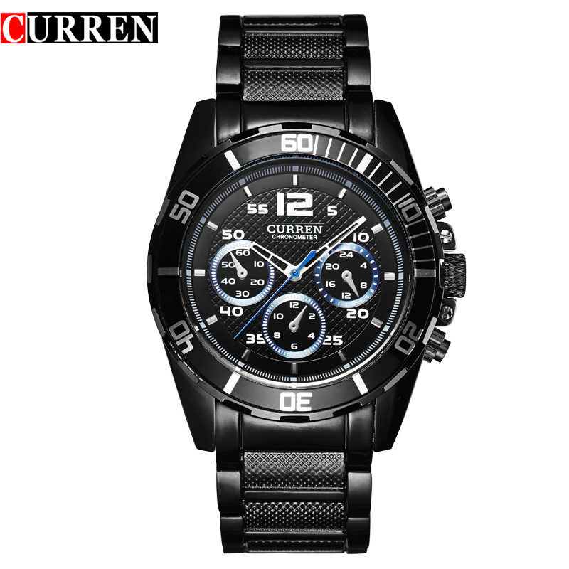 CURREM New Men s Business Fashion Curren Brand Men Casual Wrist Quartz Watch 8073