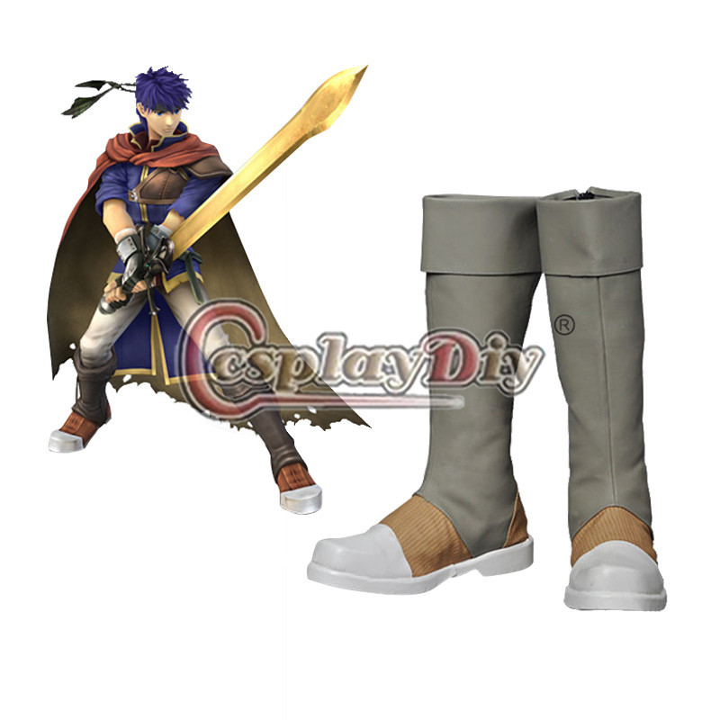 Fire Emblem Ike Cosplay Boots Shoes Adult Men Carnival Cosplay Shoes Custom Made румяна by terry terrybly densiliss blush 4 цвет 4 nude dance variant hex name cd7676