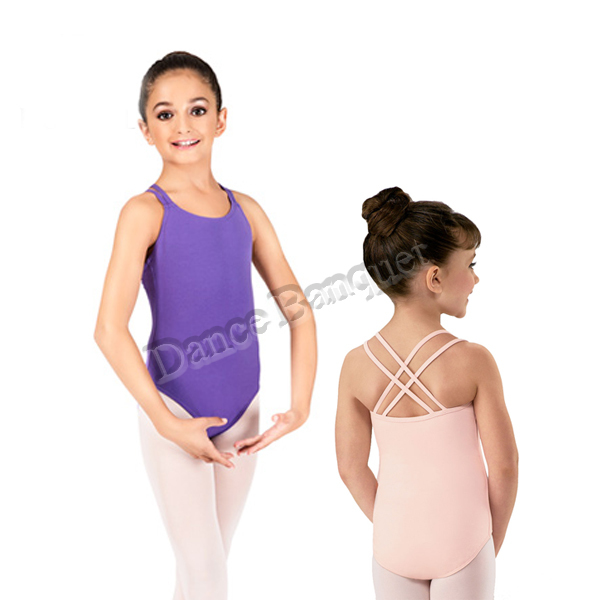 4cd57f075 double straps camisole leotard with crisscross back