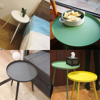 Nordic wrought iron small coffee table modern minimalist corner living room side table several balcony tray table bed round tabl