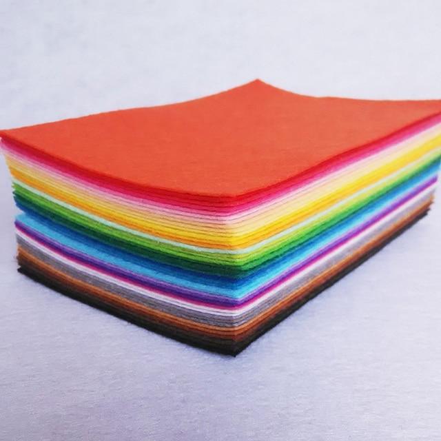 42Piece 30CM*20CM Polyester Nonwoven Felt Fabric DIY Felt Fabric  Felt Crafts  Fabric  Feutrine Cloth Toys Fabrics