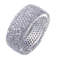 Fashion Wedding Ring For Women Clear AAA Cubic Zirconia High Quality White Gold Plated Brass Bague Femme Bands Jewelry