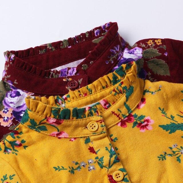 2017 nouveau Mignon Bébé Fille Robe de Coton Filles Robes Casual Enfants automne Printemps Vêtements à manches longues jaune 2 t 3 t 4 t 5 t 6 t