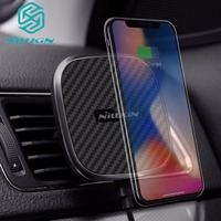 Nilkin 10W QI Fast Wireless Charger for iPhone X 8 Plus Nillkin Magnetic Car Holder Charging Pad Mount for Samsung Note 8 S9 S8