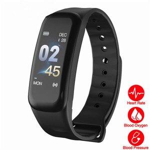 Image 2 - 2019 Vòng Tay Thông Minh Màu Sắc Màn Hình Tập Thể Hình Đồng Hồ Huyết Áp Đo Nhịp Tim Theo Dõi Giấc Ngủ Dây Đeo Tay Bluetooth Smart Watch