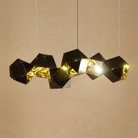 Nordic постмодерн геометрический многоугольник подвесной светильник Алюминий блеск Pendente скандинавский Творческий дом Лофт деко подвесной св