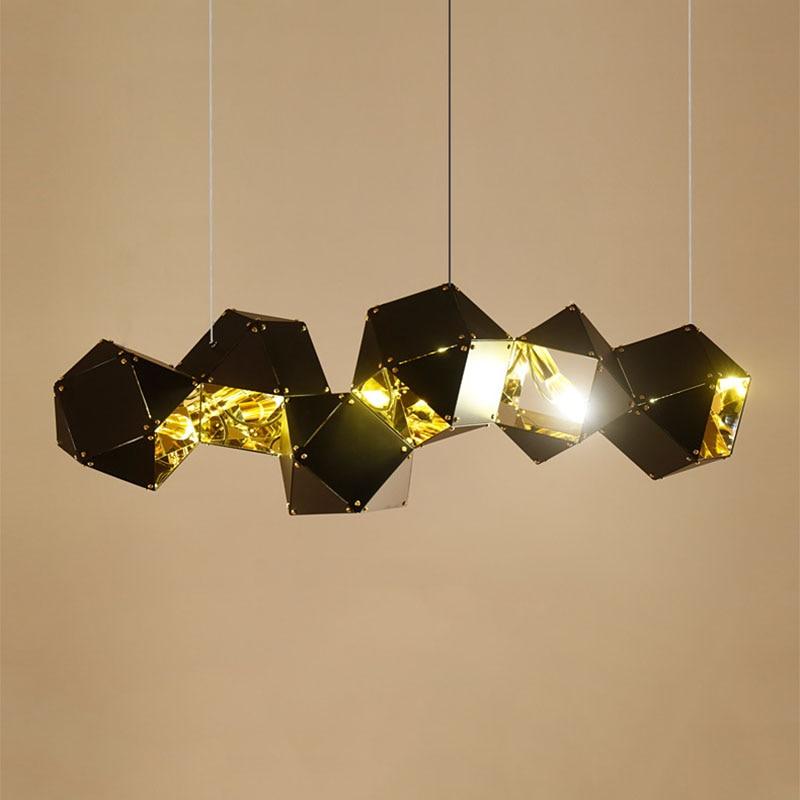 Nordic Postmodern Geometric Polygon Pendant Light Aluminum Lustre Pendente Scandinavian Creative Home Loft Deco Hanging lamp Bar худи print bar polygon city