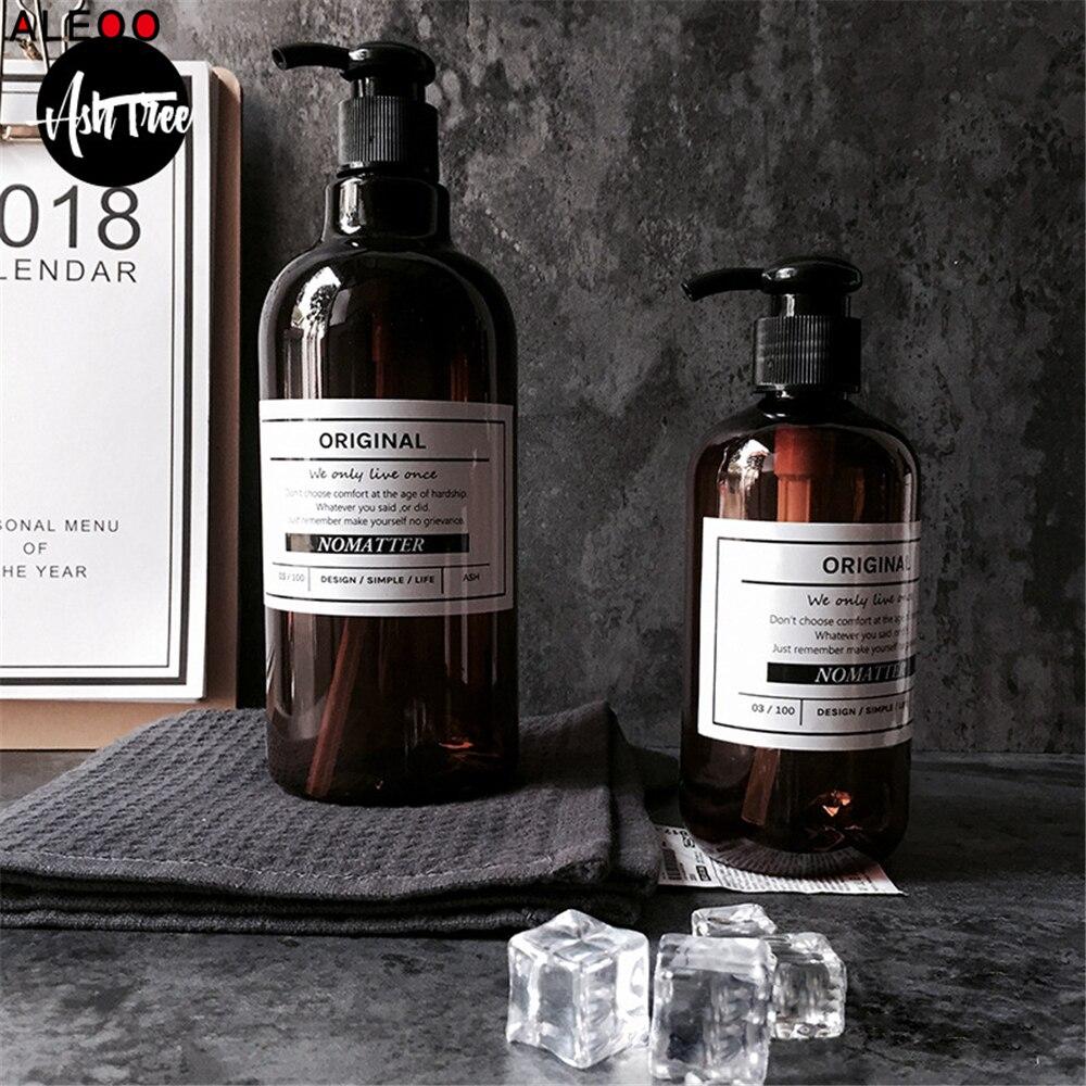 250 500ml Scandinavian Bath Shampoo Storage Bottle Vogue Chic Liquid Lotion Bottle Elegant Travel Storage Bottle Organizer Decor