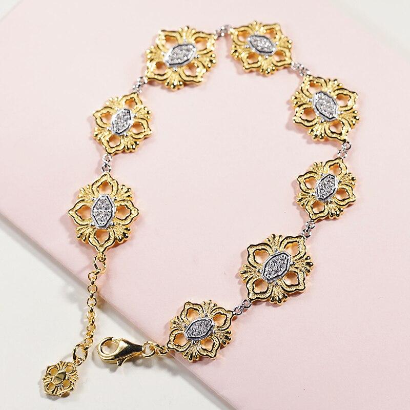 925 en argent sterling zircon bracelet argent 925 femmes de bijoux Européenne palais de style rétro style