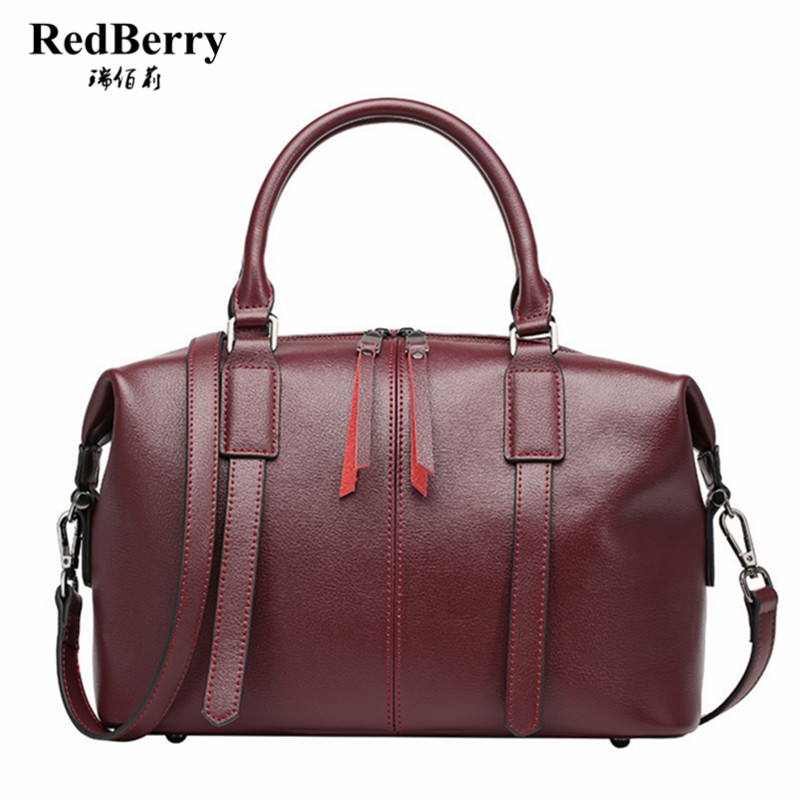 REDBERRY Genuine Leather Women Bag Famous Brand New Design Handbag Pattern Tote Bags Shoulder Messenger Bag For Ladies Elegant