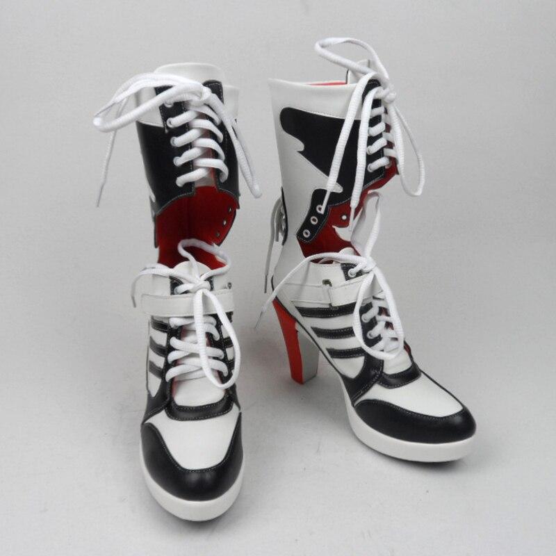 ハーレー衣装コスプレ自殺分隊自殺分隊ボタアクセサリー黒クイン女性用クイン靴ハーレーブーツ