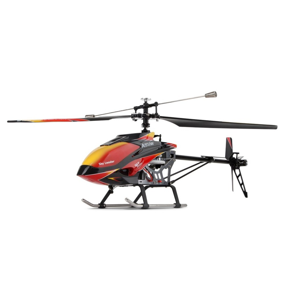 Wltoys V913 Brushless 2.4G 4CH Single Blade Built-in Gyro Super Stable Flight High efficiency Motor RC Helicopter wholesale eagle a3 super ii flight controll gyro 3d avcs for fixed fpv half set