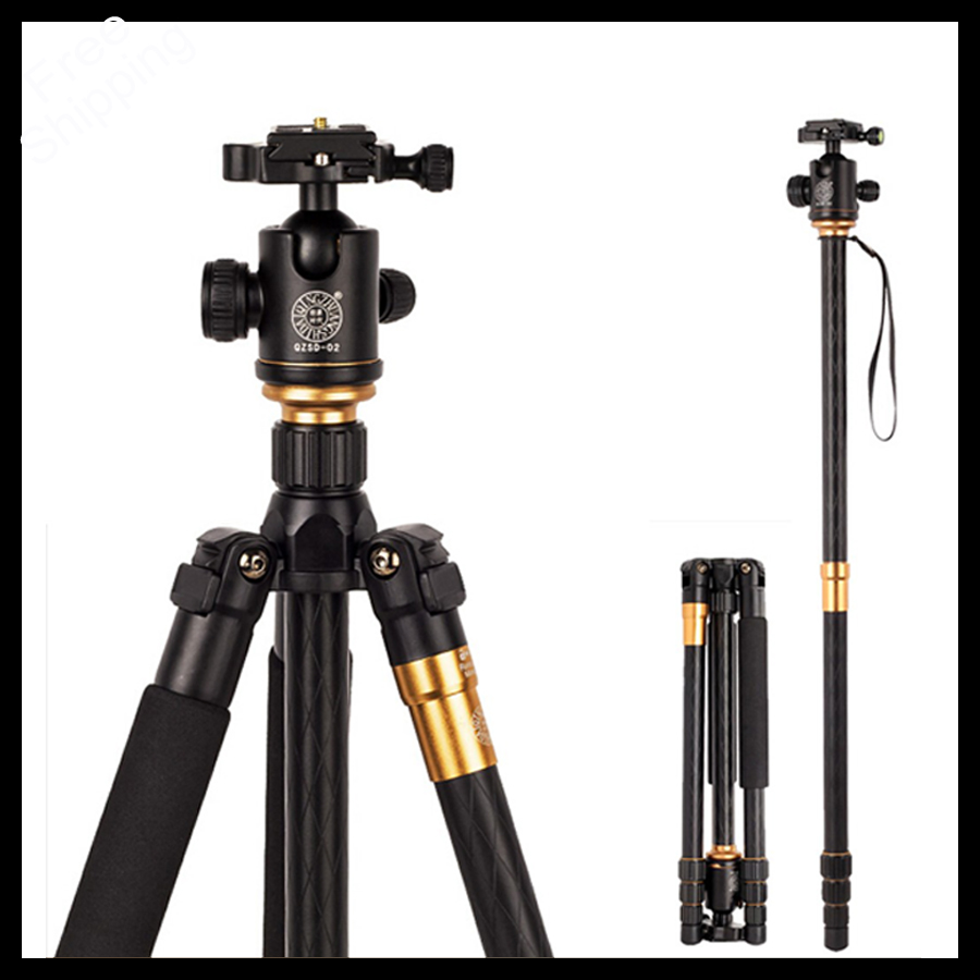 High Quality Professional Photographic Portable Tripod To Monopod+Ball Head For Digital SLR DSLR Camera Fold 43cm Max Load 15Kg qingzhuangshidai qzsd q999 professional photographic portable tripod to monopod ball head for digital slr dslr camera fold 43cm