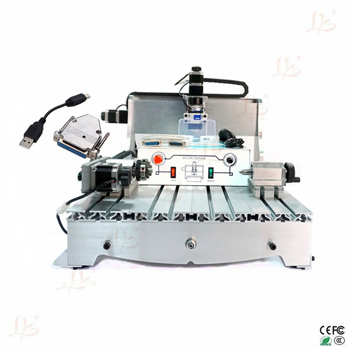 Free tax to Russia 4axis cnc milling machine 6040 Ball screw ER11 300w wood router russia tax free 3d woodworking cnc router cnc 6040 4 axis cnc milling machine with spindle 500w
