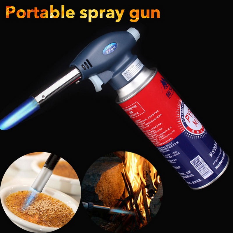 1Pcs Gas Welding Torch Camping BBQ Flame Gas Torch Burner Gun Torch Lighter Automatic Piezoelectricity Soldering Ignite Tool