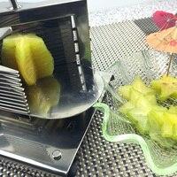 Кухня практичное инструменты многофункциональный фрукты Slicer резак фруктов из нержавеющей стали для коммерческих или домашнего использова