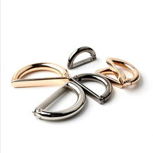 Metal Alloy D Dee Ring adjustable buckles gold/gun black/silver for bag webbing strap 2 cm/2.8 cm/3.5 cm 20  pcs/lot