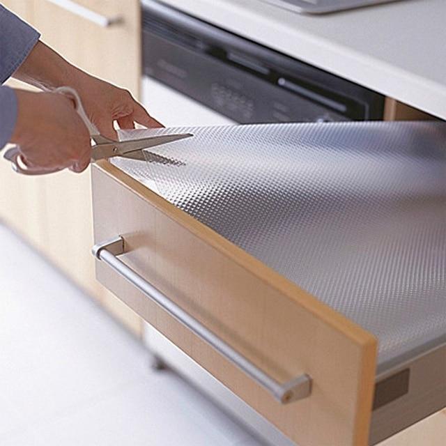 Newcomdigi Non Slip Drawer Mat Shelf Liner Cabinet Storage Pad Rubber Kitchen Cupboard Table Accessories Mats