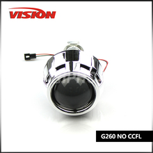 Free Shipping IPHCAR LHD/RHD 2.5Inch Mini Bi-xenon Projector Lens H1 H4 H7 Headlights without H1 Xenon Bulb and Ballast