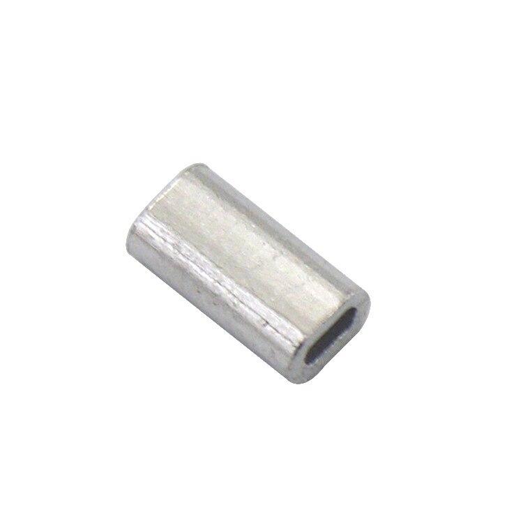 Rompin 50pcs/lot Stainless Steel Fishing Line Barrel Aluminum Crimp Sleeve Sea Fishing Line Tube Inside Diameter 1.0mm-1.5mm