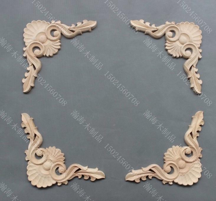 4PCS/LOT 20x20x1.2cm -  European Style Wood Carving Decoration Furniture Wardrobe Door Decals