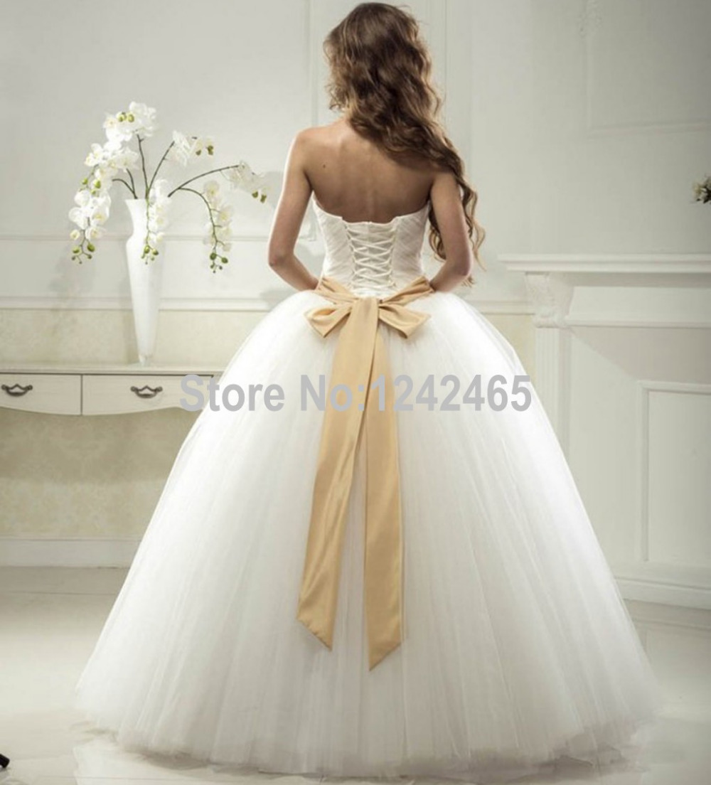 Aliexpress.com : Buy Puffy Bride Dresses Ball Gown Sweetheart ...