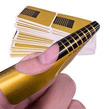 100 шт Профессиональная французская форма для ногтей, кончики для дизайна ногтей, акриловый кончик, гелевая наклейка для ногтей, удлиняющая Форма для ногтей