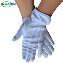 The white pure cotton antiskid gloves face to review troops be on duty driver drive rite labor insurance