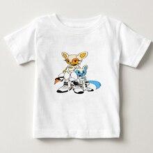 Portal 2 print T shirt kids 2018 Summer t shirt children Short Sleeves T-Shirt boy/girl 100% Cotton O-Neck tee shirt 2-15Y   NN
