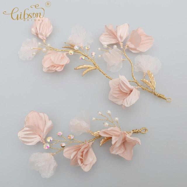 Nupciales del pelo de las damas Adornos lado flor pelo clip Accesorios de pelo  perla Niñas 17f165aa5652