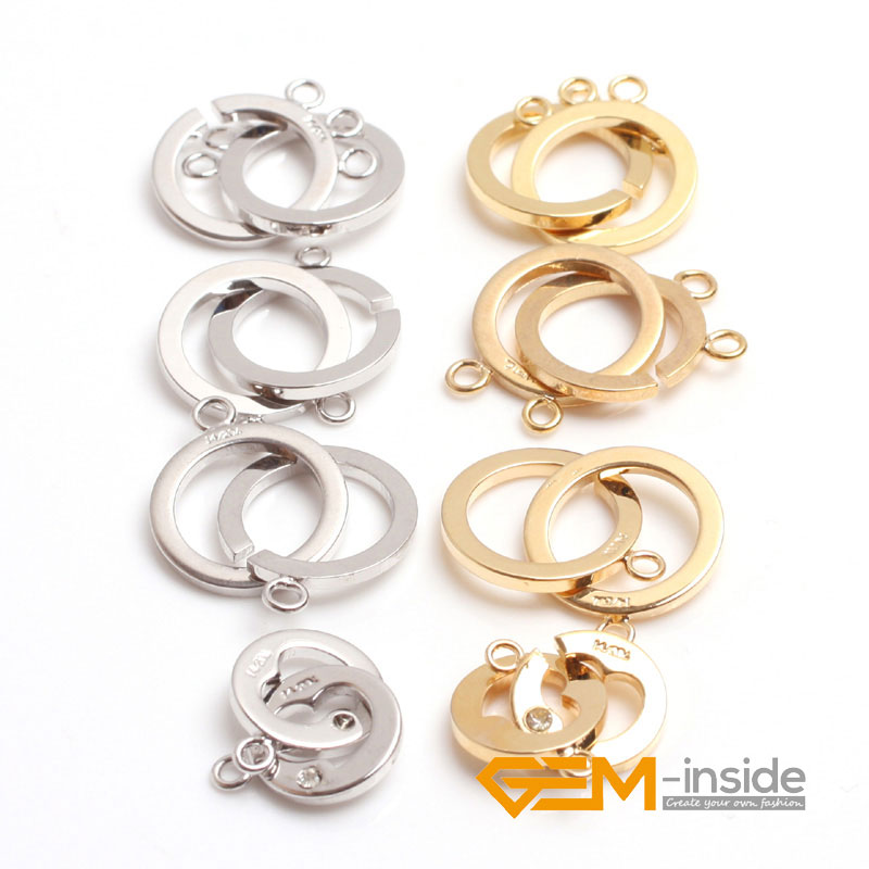 Metal Alloy Round Toggle Clasps Gold 12mm  20 Pcs Findings DIY Jewellery Making