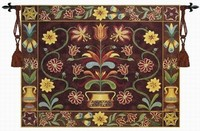 Folk Art Fashion Tapestry Wall Hanging Hanoverian Potted Flower Size137 107cm Bouquet Pictures Decor Living Room