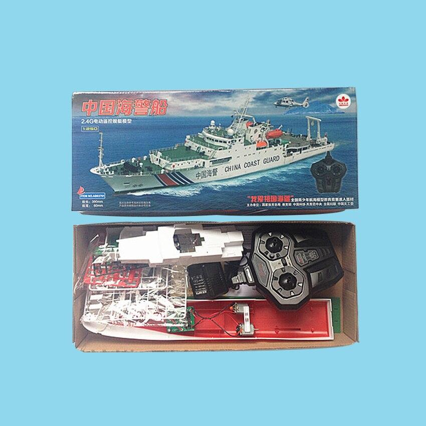 Freies verschiffen China Küstenwache Schiff 2,4G Elektrische Fernbedienung Schiffsmodell Navy Schlacht Schiff Dual Propeller DIY boot spielzeug geschenk - 6