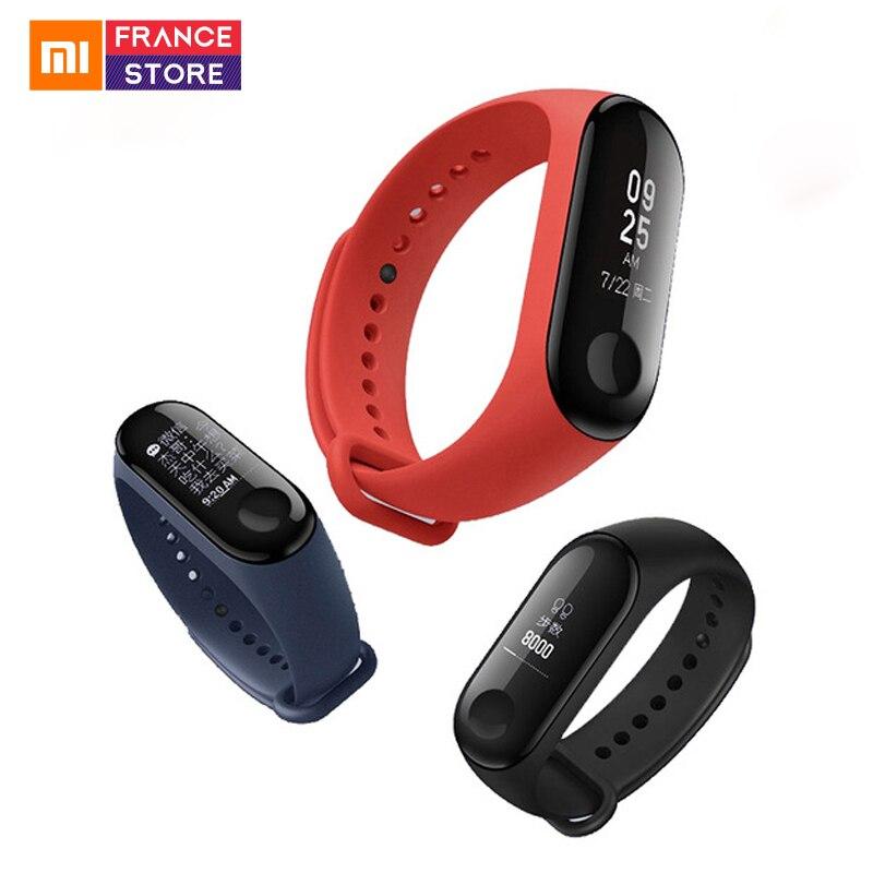 Versión Global Xiaomi mi Band 3 pulsera de banda inteligente mi Band 2 pantalla de actualización mi Band 3 rastreador de Fitness impermeable