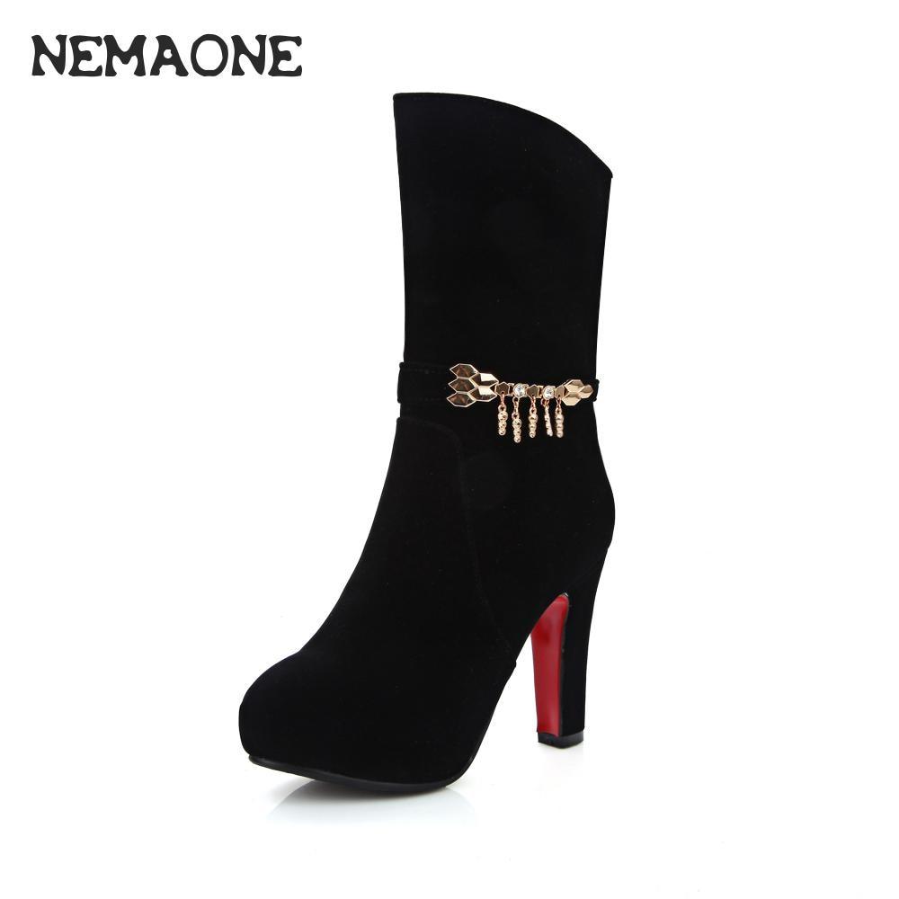 black short boots for women promotion-achetez des black short