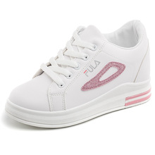 YeddaMavis Shoes Pink PU Sneakers Women New 7CM Lace Up Womens Woman Trainers Zapatos De Mujer