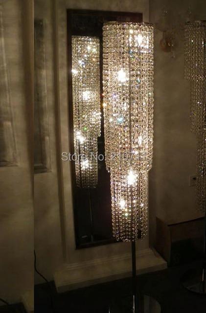 Clear K9 Crystal Floor Lamp,crystal Floor Light,elegant Floor Standing Lamp