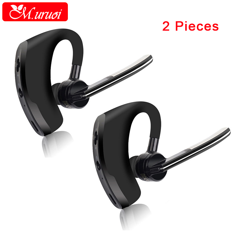 M.uruoi 1 Combo (2 pieces) Wireless Bluetooth Headphones Handsfree Earphone With Mic Noise Reduction Bluetooth Headset For Phone dental endodontic root canal endo motor wireless reciprocating 16 1 reduction