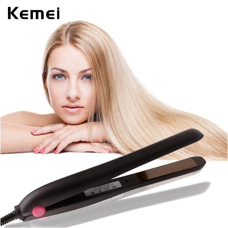Professional 25W Ceramic Hair Straightener Flat Iron PTC Heating Hair Straightening Irons Style Tools Hair Artifact 110-240V loof jr 198 1 professional ptc car power hair straightener pink