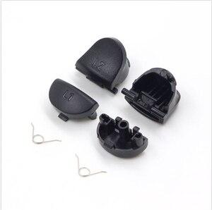 Image 4 - Набор для ремонта регулятора PS4 R1L1R2L2 кнопки триггера 3D аналоговые джойстики палочки для большого пальца крышка проводящая резиновая пленка для Playstation 4