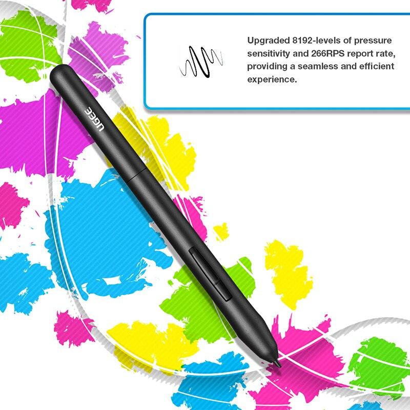 Ugee M708 V2 tablette graphique numérique pour dessin 10x6 pouces tablette de peinture 8192 niveau tablette graphique avec stylo sans batterie - 4
