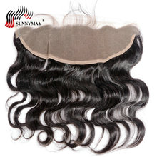 Sunnymay 13x4 Lace Frontal Closure Body Wave With Baby Hair Pre Plucked Malaysian Virgin In Stock