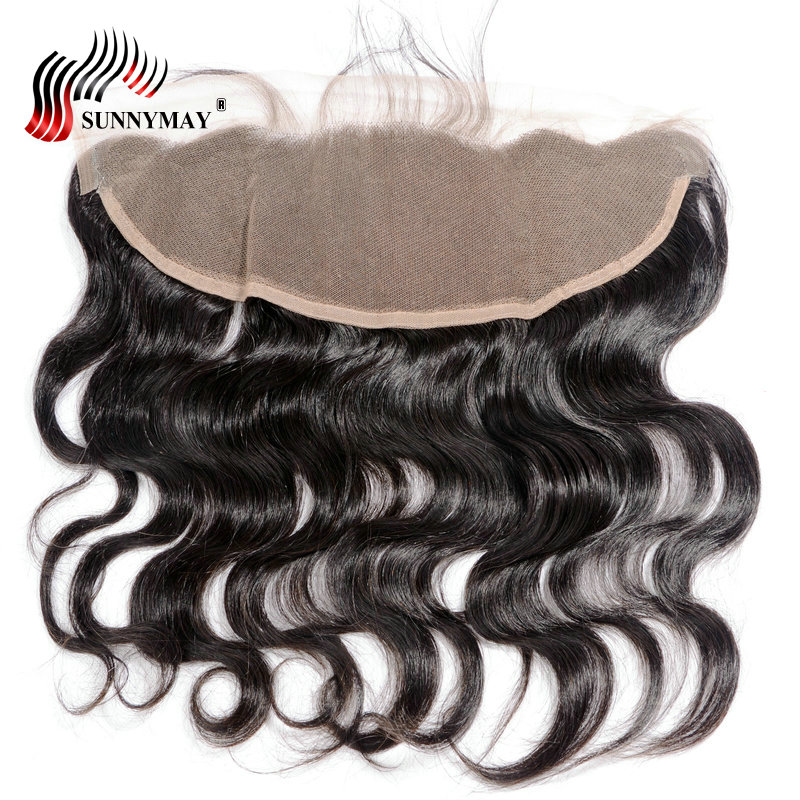 Sunnymay 13x4 Lace Frontal Closure Body Wave With Baby Hair Pre Plucked Malaysian Virgin Hair Lace Frontal In Stock