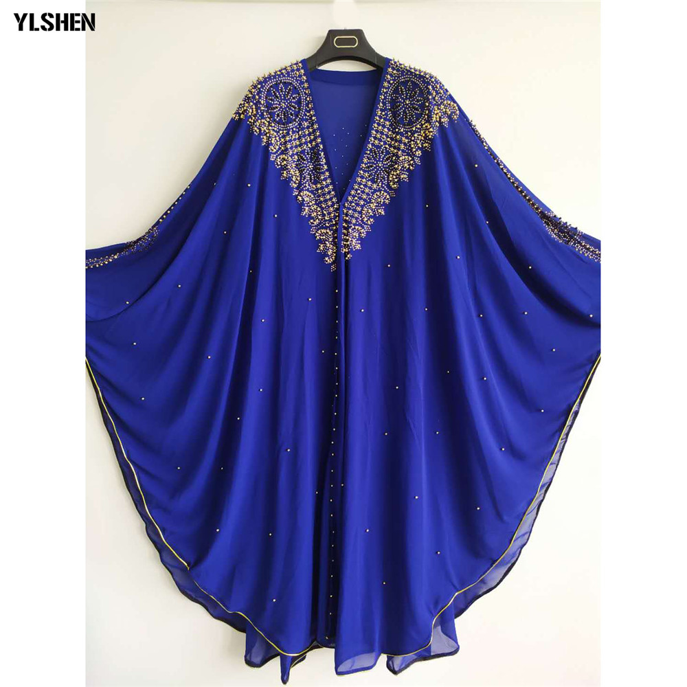 Luxury African Dresses For Women 2019 New African Clothes Dashiki Diamond Abaya Dubai Robe Evening Long Muslim Dress Hood Cape