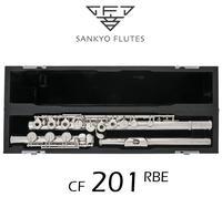 Sankyo CF201 FLUTE ETUDE E Key Split Silver Plated FLute C tone 16 and 17 Holes Open Professional Flute Copy