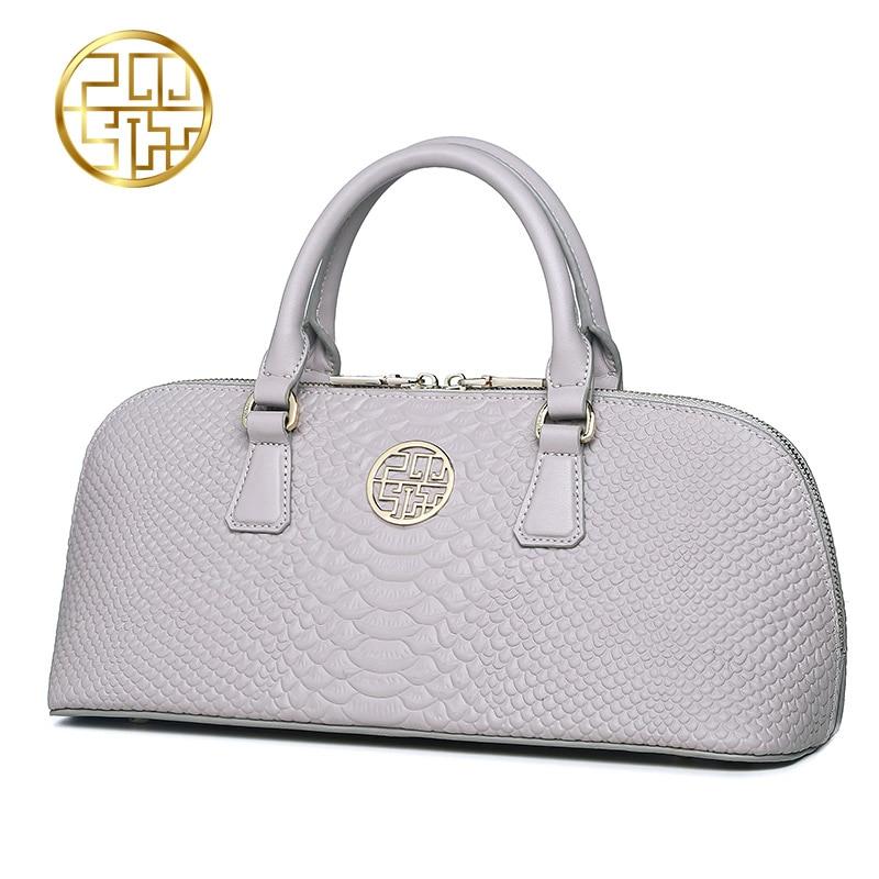 ФОТО Pmsix 2017 new embossed crocodile pattern leather handbag shoulder bag simple fashion casual female bag P120047