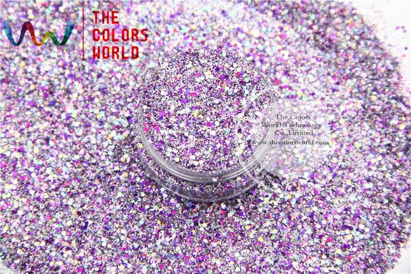 hac2042 304 mix cor forma de hexagono glitter lantejoulas para nail art diy e decoracao do