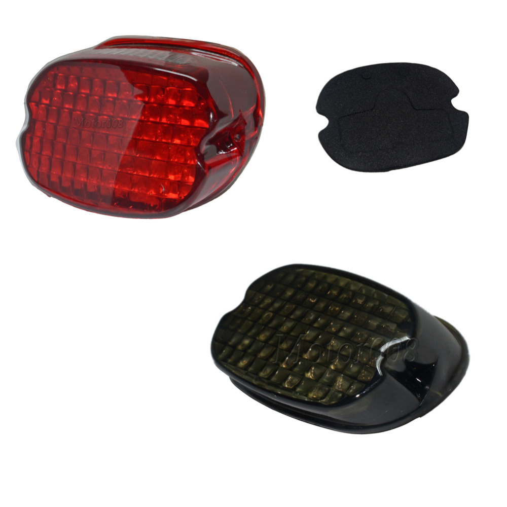 Red Smoke LED laydown Taillight for Harley Dyna Electra Glide FXD FLHT FLTR FXST FLHX XL 1200