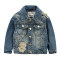 Children Outerwear Casual Kids Clothes Old and Worn-out Baby Boys Denim Jackets For Age 3-8 Years Old Spring and Autumn