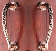 300mm Wooden,Glass Door Pulls Antique High Quality Door Handles Bronze Zinc Alloy Home Ktv Hotel Big Gate Door Pulls Handles